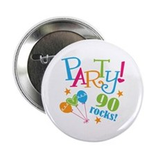 """90th Birthday Party 2.25"""" Button (10 pack)"""