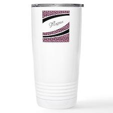 Pink Leopard Personalized Travel Mug