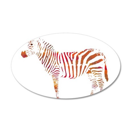 The Colorful Zebra Wall Decal