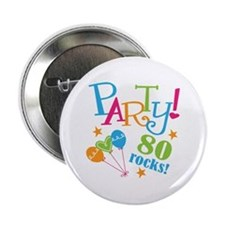 "80th Birthday Party 2.25"" Button (10 pack)"