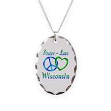 Peace Love Wisconsin Necklace