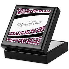 Pink Leopard Personalized Keepsake Box