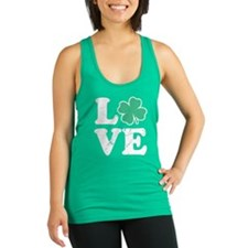 Love St. Pattys Day Racerback Tank Top