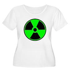 Green Round Radioactive Plus Size T-Shirt