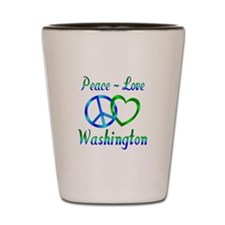 Peace Love Washington Shot Glass