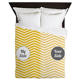 My Side Your Side Queen Duvet Cover