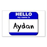 hello my name is aydan Rectangle Decal