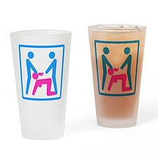Kamasutra - Menage a Trois (MFM) Drinking Glass