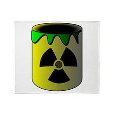 Nuclear Waste Barrel Throw Blanket