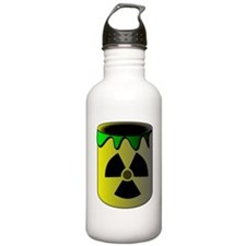 Nuclear Waste Barrel Sports Water Bottle