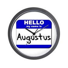 hello my name is augustus  Wall Clock