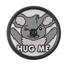 Hug me Large Wall Clock