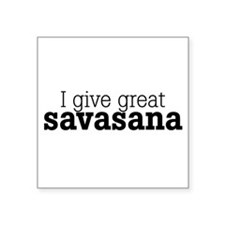 I Give Great Savasana Sticker