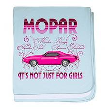 Mopar - Its not just for girls baby blanket
