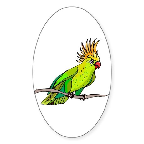 Cockatoo Oval Sticker