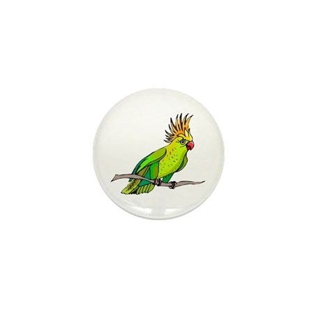 Cockatoo Mini Button