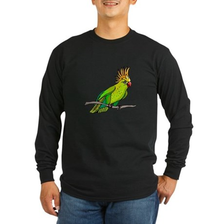Cockatoo Long Sleeve Dark T-Shirt