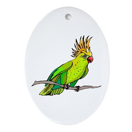 Cockatoo Oval Ornament