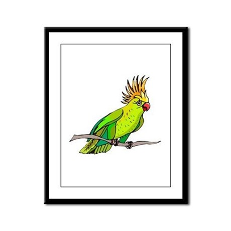 Cockatoo Framed Panel Print