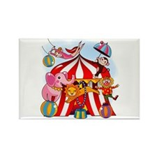 The Circus is in Town Rectangle Magnet (100 pack)