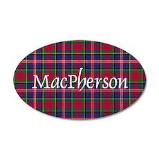Tartan - MacPherson 20x12 Oval Wall Decal