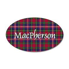 Tartan - MacPherson 35x21 Oval Wall Decal
