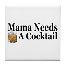 Mama Needs a Cocktail II Tile Coaster