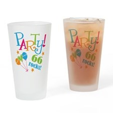 66th Birthday Party Drinking Glass