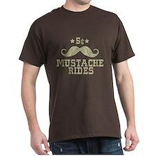 5¢ Mustache Rides (Vintage) T-Shirt