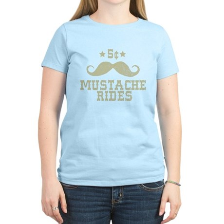 5� Mustache Rides (Vintage) Womens Light T-Shirt
