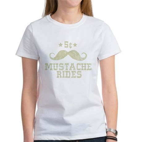 5 Mustache Rides (Vintage) Womens T-Shirt