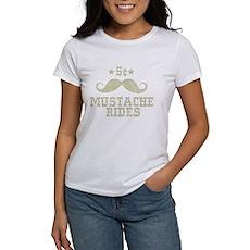 5¢ Mustache Rides (Vintage) Womens T-Shirt