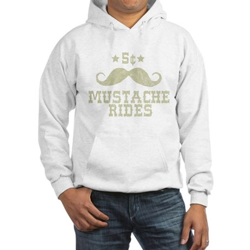5¢ Mustache Rides (Vintage) Hooded Sweatshirt