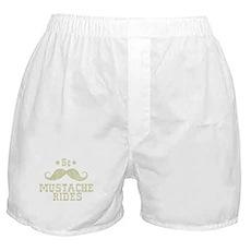 5¢ Mustache Rides (Vintage) Boxer Shorts