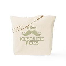 5¢ Mustache Rides (Vintage) Tote Bag