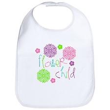Flower Child Girl Design Bib