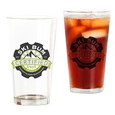Certified Ski Bum Drinking Glass