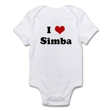 I Love Simba Infant Bodysuit
