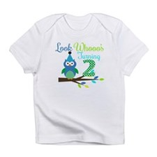 Second Birthday Boy Owl Image Infant T-Shirt