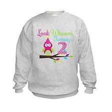 Look Whooos Turning Two Sweatshirt