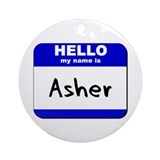hello my name is asher  Ornament (Round)