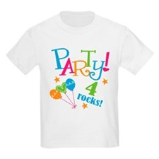 4th Birthday Party T-Shirt
