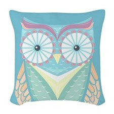 Colorful Owl Woven Throw Pillow