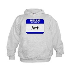 hello my name is art Hoodie