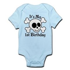 1st Birthday Pirate Skull Body Suit