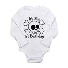 1st Birthday Pirate Skull Body Suit