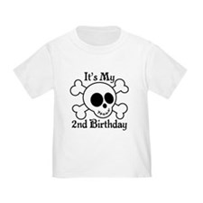 2nd Birthday Pirate Skull T