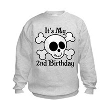 2nd Birthday Pirate Skull Sweatshirt