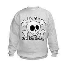 3rd Birthday Pirate Skull Sweatshirt