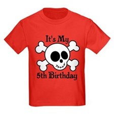 5th Birthday Pirate Skull T